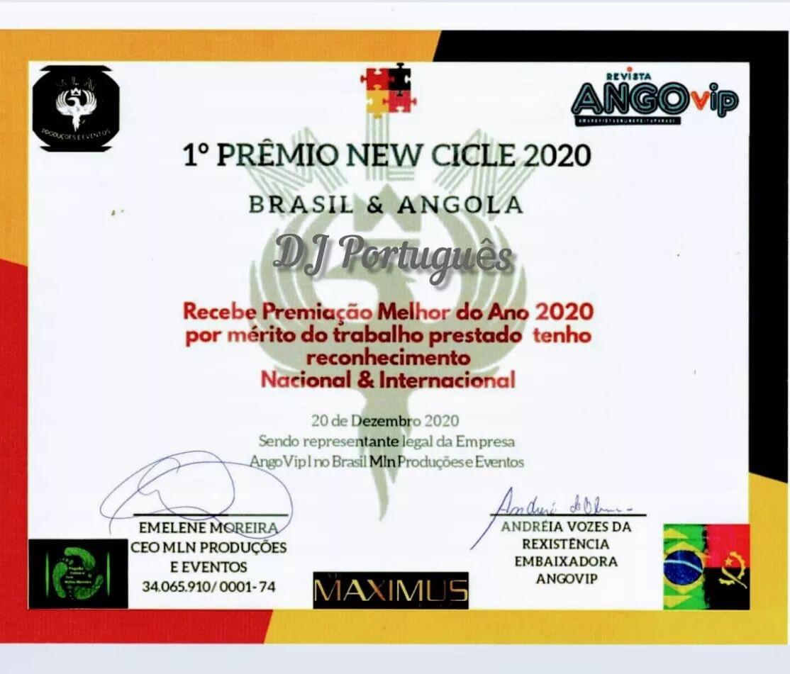 DJ Português recebe prêmio New Cicle